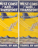 Old 1929 West Coast Air Transport Postcard